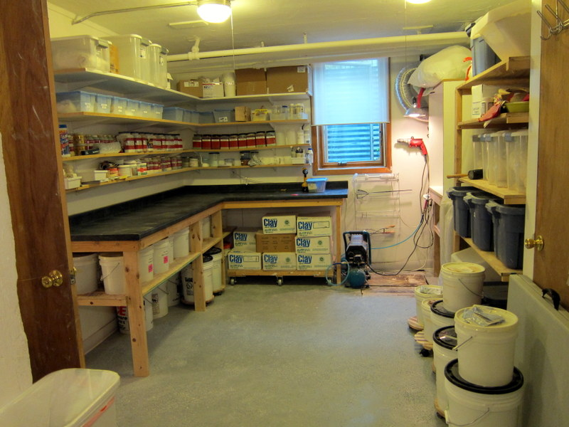 easy garage makeover ideas - a pottery studio tour my sunny basement studio