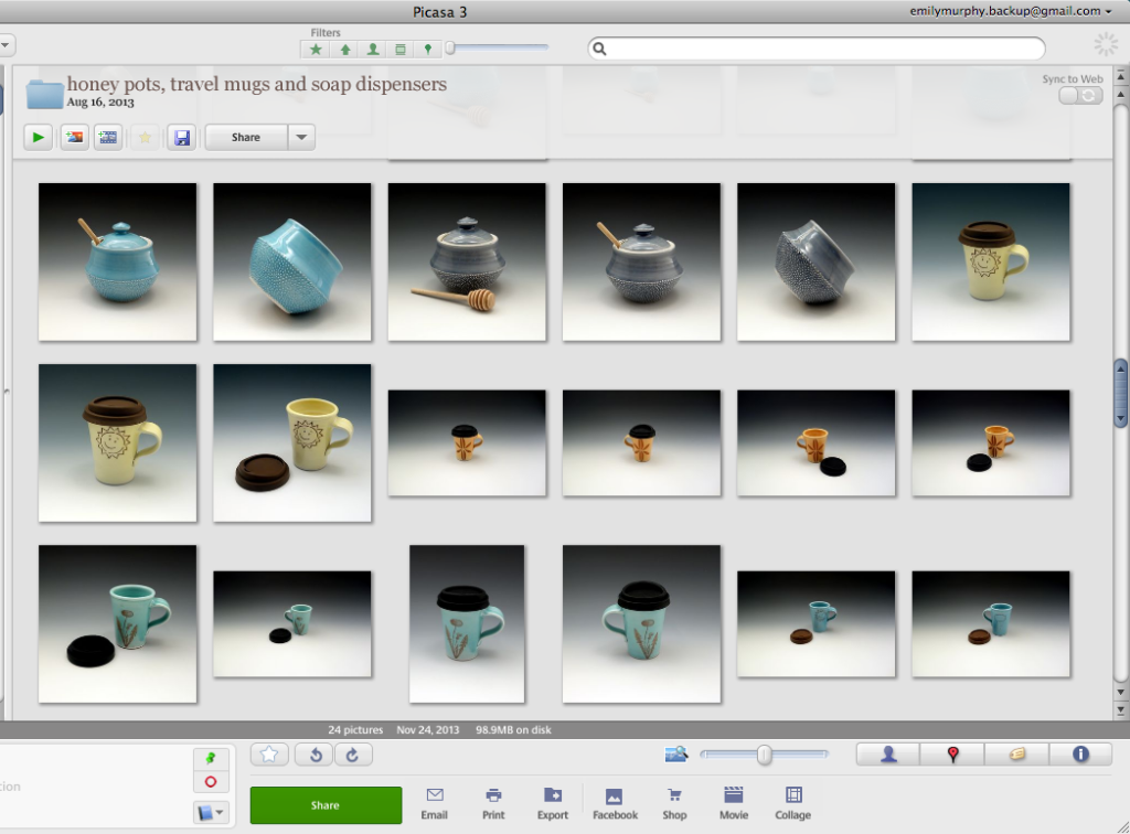 Editing photos in Picasa for Etsy