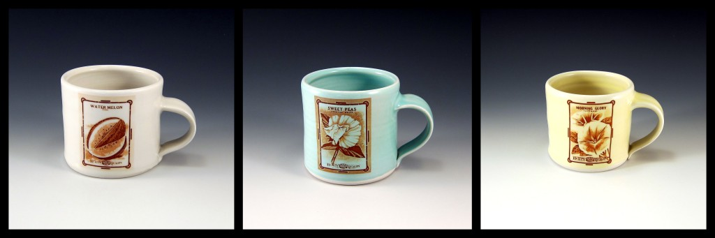 Vintage Seed Packet Mugs Emily Murphy Pottery