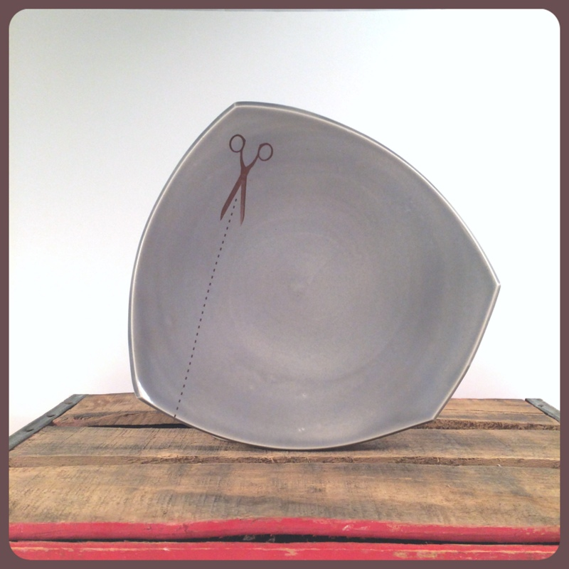 Emily Murphy Pottery porcelain squared plate
