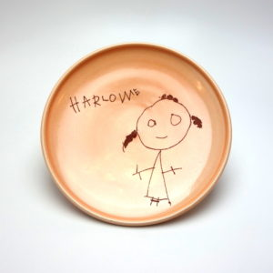 Harlowe - I love this.  I think if an adult was drawing a kid drawing - it would look like this one! Handwriting and all.